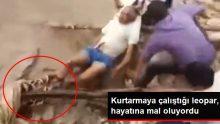 50 Yaşındaki Adam, Kurtarmaya Çalıştığı Leoparın Saldırısına Uğradı