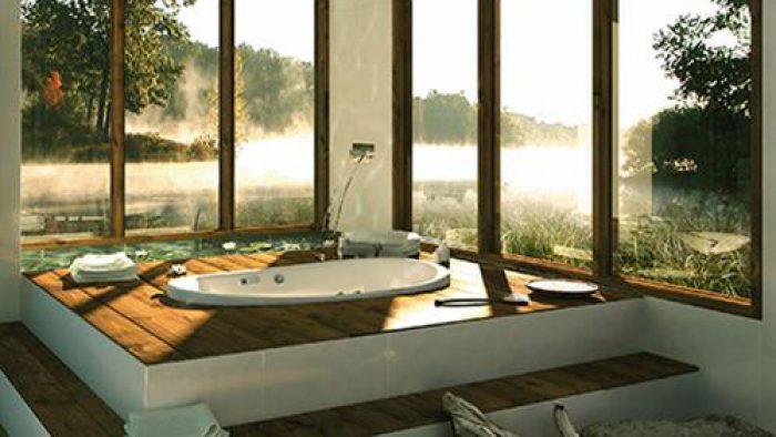 Modern Banyo Gömme Küvet Tasarımları