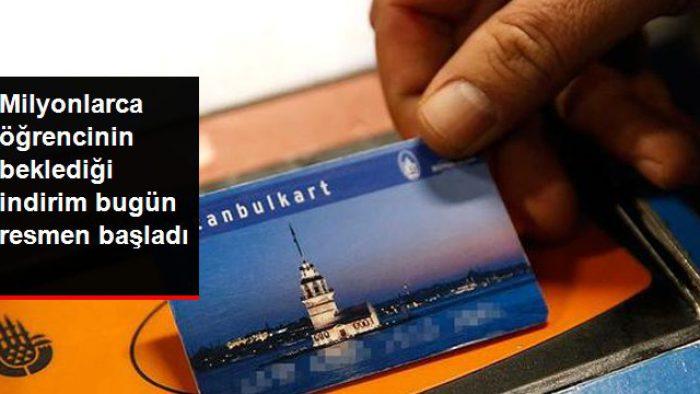 İstanbul'da Öğrencilere Akbil İndirimi Başladı