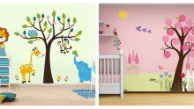 Çocuk Odaları İçin Resimli Duvar Kağıtları