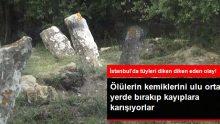 İstanbul'da tüyler ürperten olay! Mezarları talan ettiler