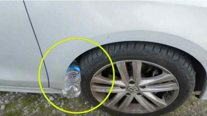 Uyarı! Aracınızın Sağ Tekerleğinin Üstünde Plastik Şişe Görürseniz Risktesiniz Demektir