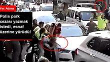 Adana'da bir grup esnaf, ceza yazmak isteyen memurun üzerine yürüdü
