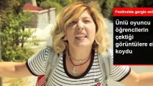 Oyuncu Şebnem Bozoklu, Festivalle İlgili Soru Sormak İsteyen Öğrencilere Aşırı Tepki Gösterdi