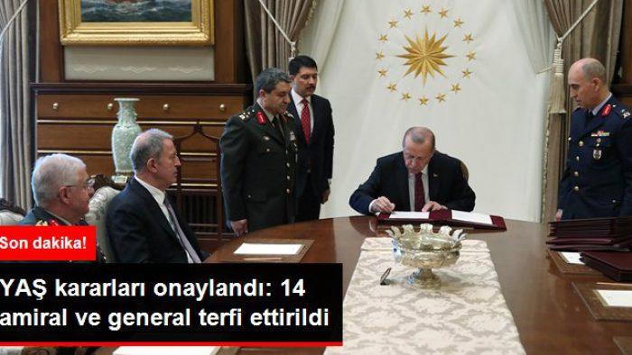 Son dakika! Cumhurbaşkanı Erdoğan'ın onayladığı YAŞ kararları açıklandı