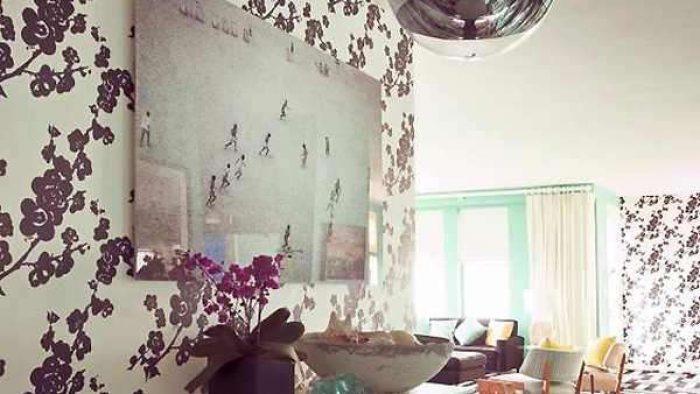 Çiçek Desenli Duvar Kağıdı Dekorasyon Örnekleri