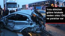 TIR'dan Dökülen Gübre Zincirleme Kazaya Neden Oldu! Ölü ve Yaralılar Var